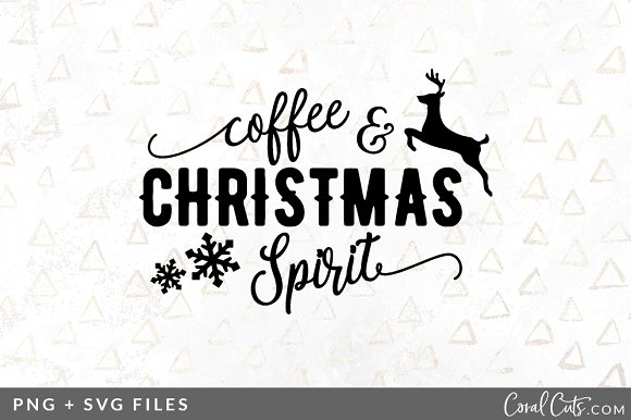 Coffee Christmas Svg Png Graphic Pre Designed Illustrator Graphics Creative Market