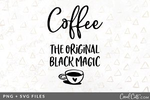 Coffee Black Magic SVG/PNG Graphic