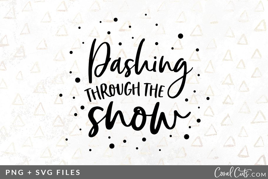 Dashing Snow Svg Png Graphic Pre Designed Illustrator Graphics Creative Market