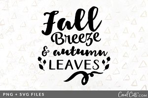 Fall Breeze SVG/PNG Graphic