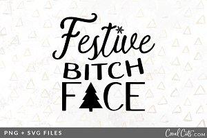 Festive Bitch Face SVG/PNG Graphic