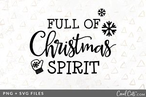 Full of Christmas SVG/PNG Graphic