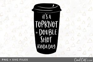 Topknot Double Shot SVG/PNG Graphic