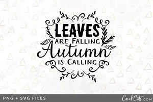 Leaves are Falling SVG/PNG Graphic