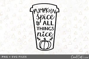 Pumpkin Spice SVG/PNG Graphic