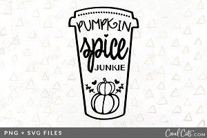 Pumpkin Spice Junkie SVG/PNG Graphic