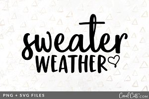 Sweater Weather SVG/PNG Graphic