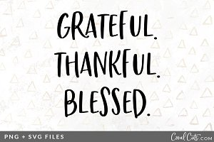 Grateful Thankful SVG/PNG Graphic