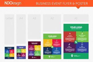 Business Event Flyer & Poster - nex