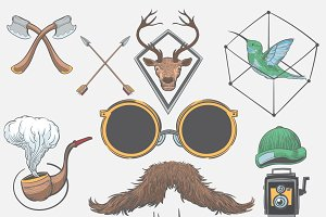 Hand drawing illustration of hipster