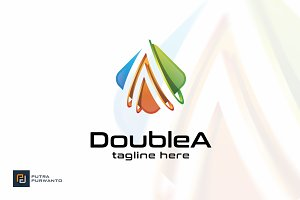 Double A - Logo Template