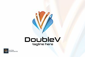 Double V - Logo Template