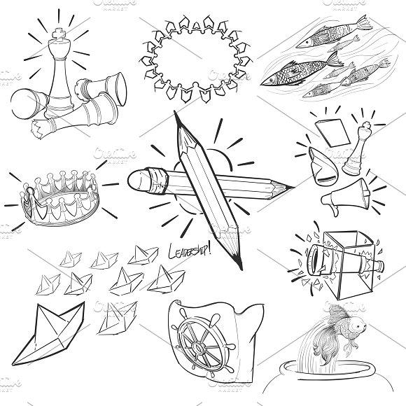 Hand drawing illustration leadership