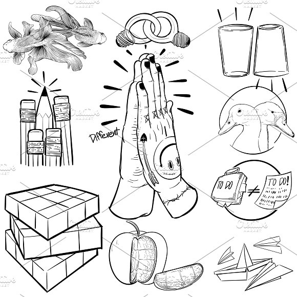 Hand drawing illustration