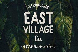 East Village Bold Handwritten Font