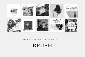 Brush - Social Media Templates