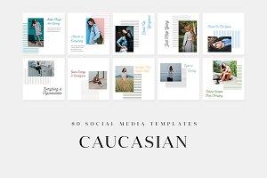 Caucasian - Social Media Templates