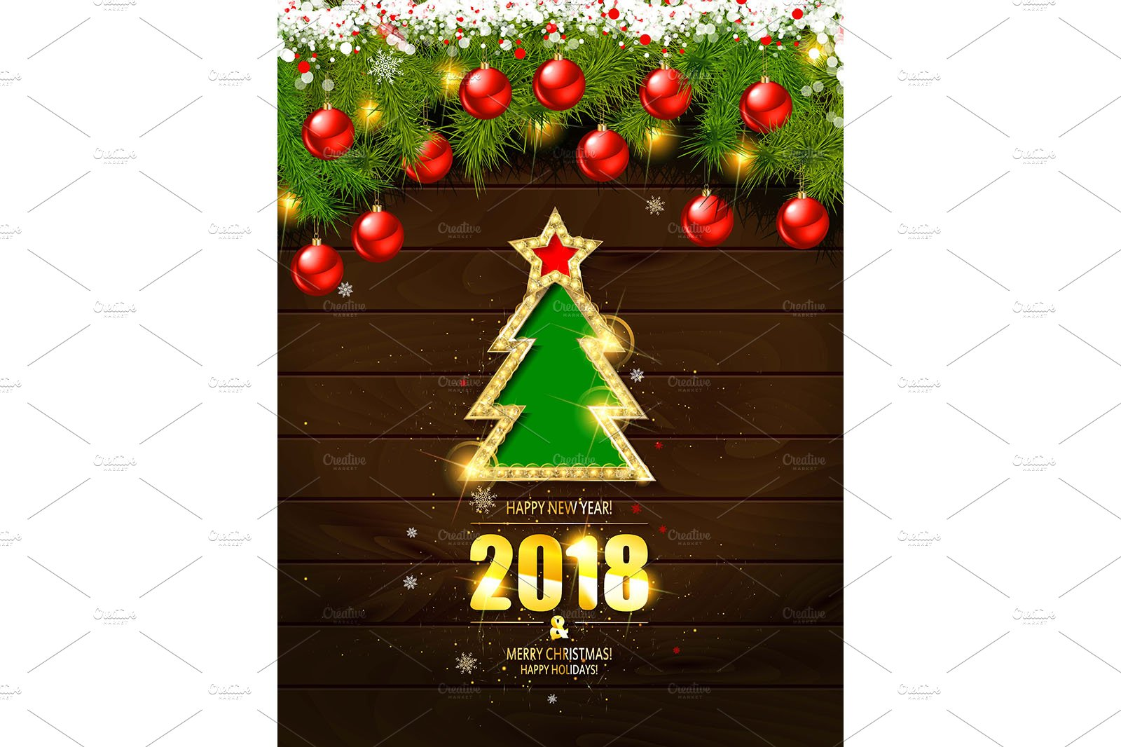Merry Christmas Poster Template ~ Graphics ~ Creative Market