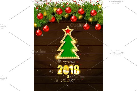 merry christmas poster template graphics creative market