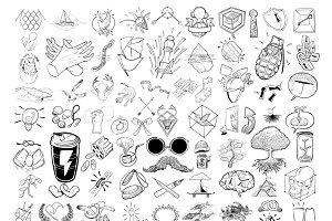 Hand drawing illustration set