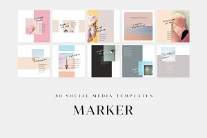 Marker - Social Media Templates