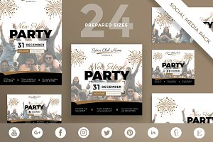 Social Media Pack | New Year Party