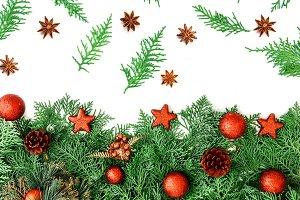 Christmas pine leaf