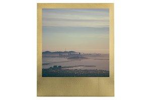 Gold Polaroid Frame PSD Mockup