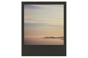 Black Polaroid Frame PSD Mockup