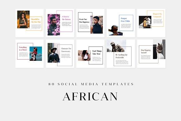 African - Social Media Templates
