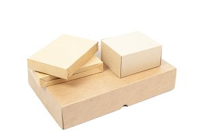 Small brown cardboard boxes