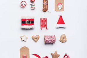 Creative Christmas layout on white