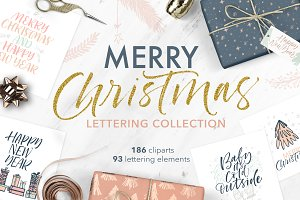 Christmas lettering collection.