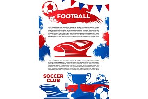 Vector football poster for soccer club