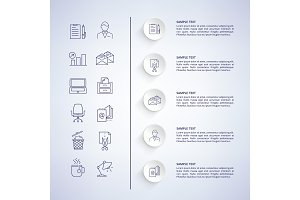 Inforgaphic and Information Vector Illustration