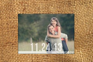 Handcrafted Save the Date