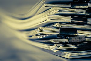 stacking of office working document