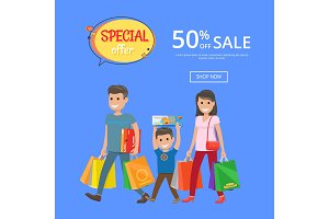 Special Offer Sale Advertisement Online Poster 50