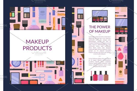Vector Card Flyer Brochure Template For Beauty Brand