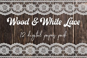 White Lace And Wood Paper