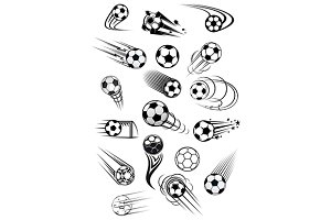 Football or soccer ball symbols
