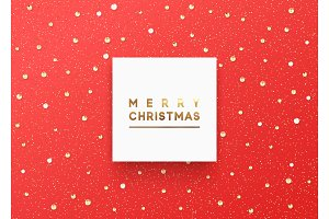 Christmas background is strewn with precious stones and bright sparkles.