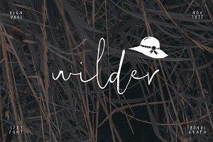Wilder Font + Graphic