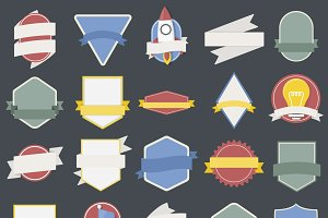 Mixed Set of badges vector