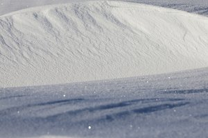 Snowdrifts in winter