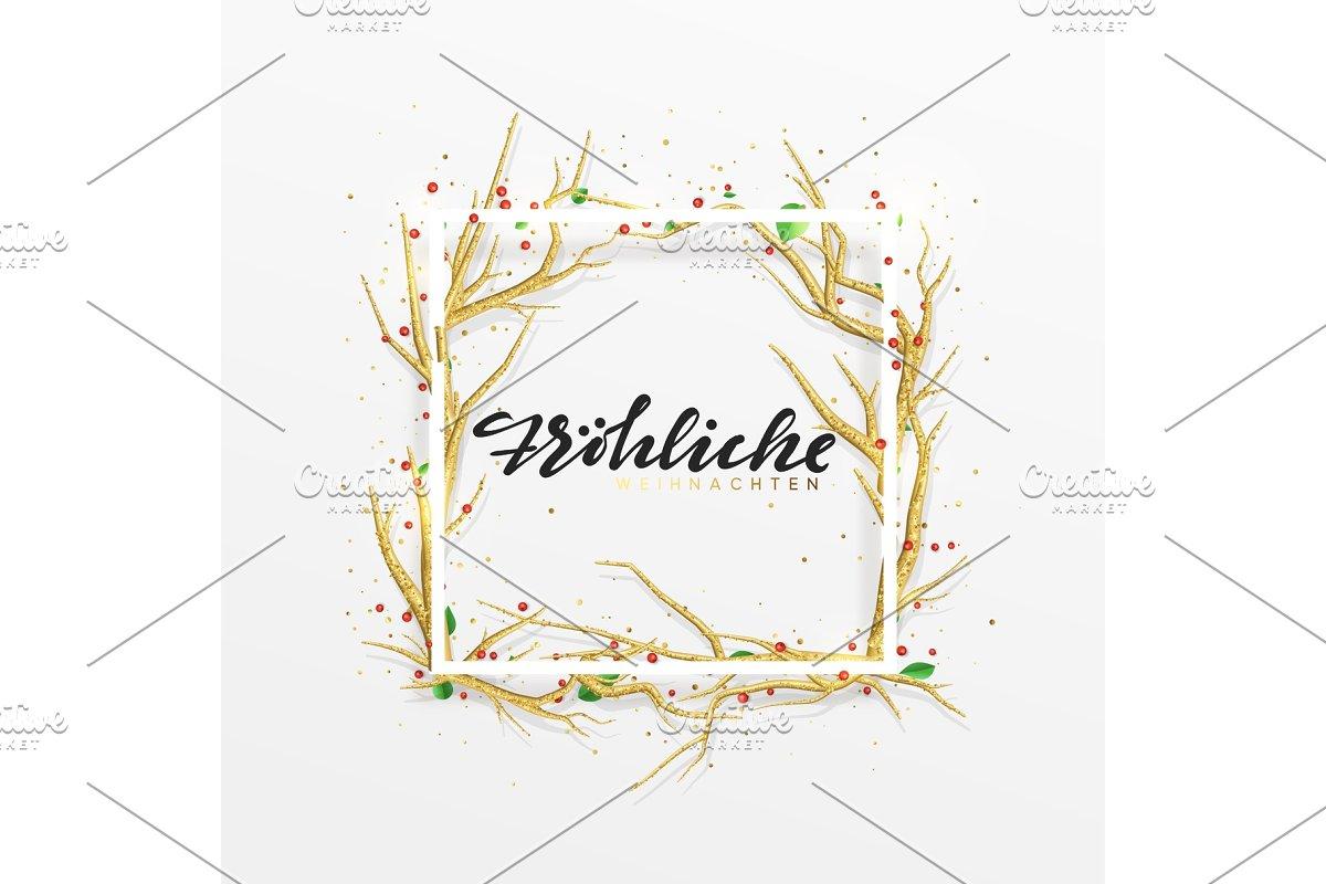 E Cards Weihnachten.German Text Frohliche Weihnachten Merry Christmas Greeting Cards