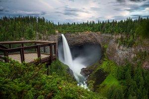 Helmcken Falls in Wells Gray Provincial Park in Canada