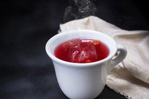 hot tea from a viburnum
