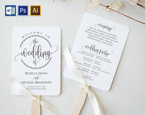 Wedding Program Fan Wpc380 Invitations