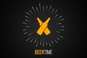 Beer bottles logo concept design
